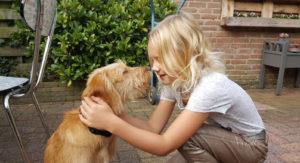 nienke met hond